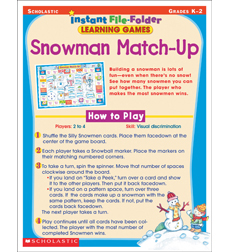 Instant File-Folder Learning Games: Snowman Match-Up