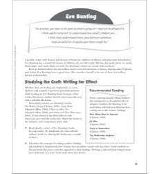 Eve Bunting (Writing for Effect): Teaching Writing With Mentor Texts (Grades 1-3)