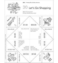 Let's Go Shopping (Finding 50% of Dollar Amounts): Fun-Flap Hands-On Math Manipulative