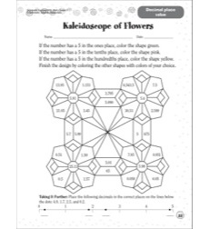 Kaleidoscope of Flowers: Scholastic Success With Math (Grade 5)