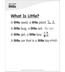 What Is Little? (Sight Word 'little'): Super Sight Words Poem