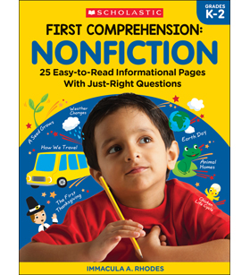 First Comprehension: Nonfiction by Immacula A  Rhodes