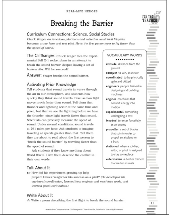 graphic regarding High Flight Poem Printable identify Nonfiction Being familiar with Cliffhangers as a result of Tom Conklin