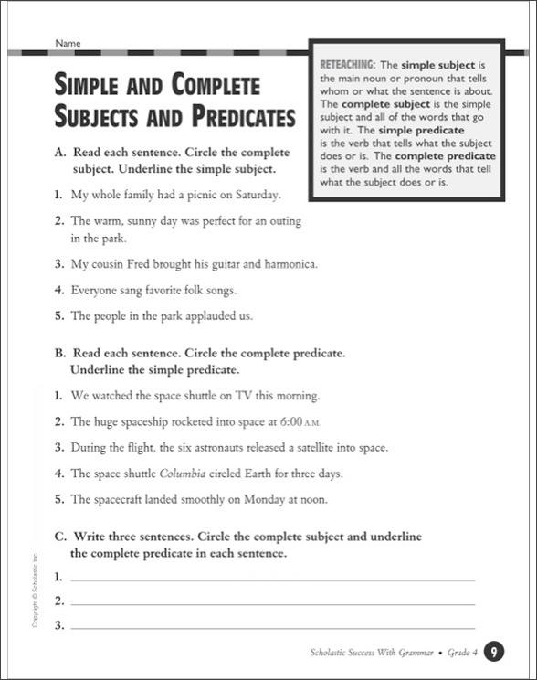 Scholastic Success With Grammar: Grade 4 by