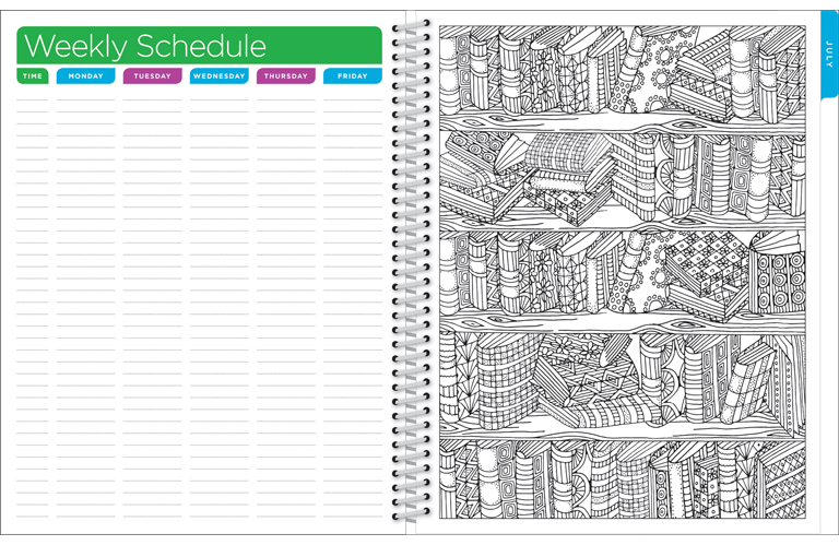 It's just a graphic of Terrible Teacher Coloring Planner