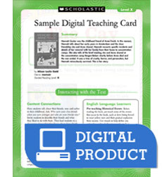 Guided Reading Level O: Nettie's Trip South Teaching Card