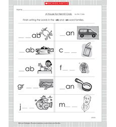 House for Hermit Crab, A - Activity Sheet