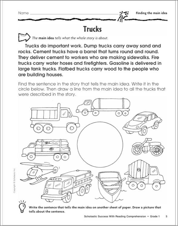 scholastic reading comprehension grade 5 pdf