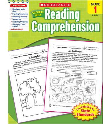 Scholastic Success With Reading Comprehension: Grade 1 Workbook