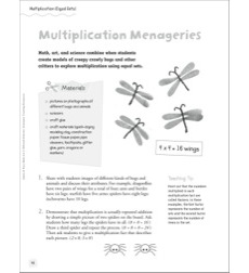 Multiplication Menageries (Equal Sets): Quick & Easy Math Art