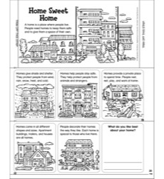 Home Sweet Home: Manipulative Mini-Book