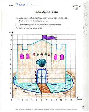 Seashore Fun: A Division Activity: Coordinate Graphing with Division