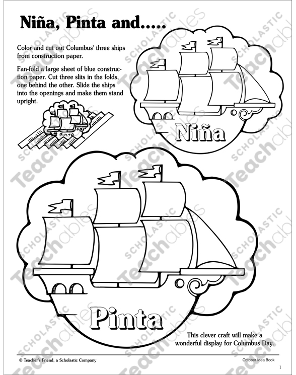 nina pinta and santa maria patterns and activity ideas activity sheet 099