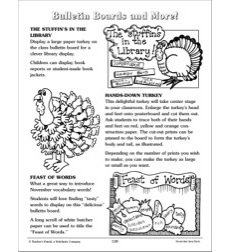 November Bulletin Boards and More