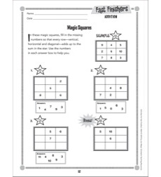 Magic Squares (Addition): Fast Finishers - Grades 2-3