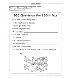 100 Guests on the 100th Day (Being Silly): February Poetry Frame