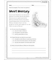 Meet Mercury: Grade 2 Close Reading Passage