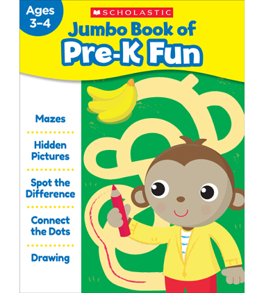 Jumbo Book of Pre-K Fun Workbook
