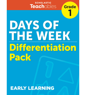 Days of the Week Grade 1 Differentiation Pack