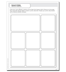 Aesop's Fables - Activity Sheet