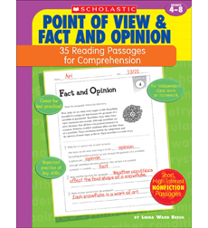 35 Reading Passages for Comprehension: Point of View & Fact and Opinion