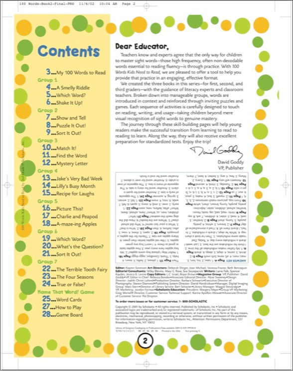 100 Words Kids Need to Read by 2nd Grade by