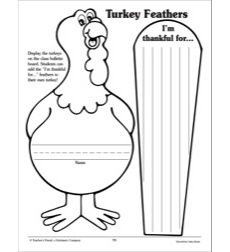 turkey body coloring page - turkey feathers pattern by