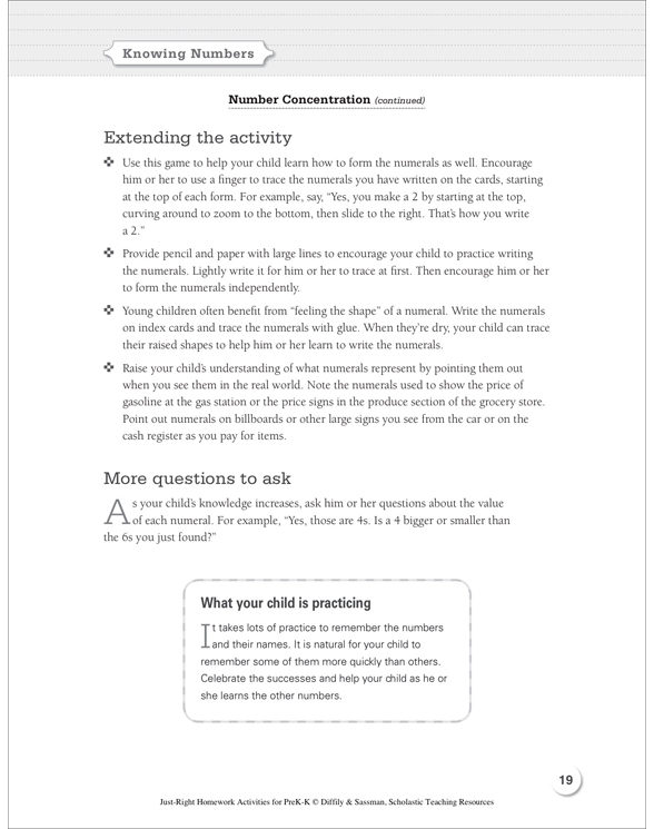 JustRight Homework Activities For PrekK By Deborah Diffily