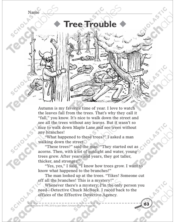 Tree trouble using a tree diagram math mystery story by tree trouble using a tree diagram math mystery story ccuart Gallery