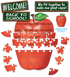 Welcome! Apple Puzzle Bulletin Board by