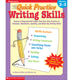 Quick Practice: Writing Skills: Grades 2-3