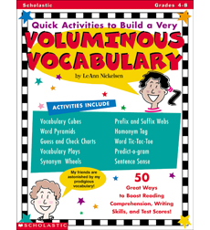 Quick Activities to Build a Very Voluminous Vocabulary