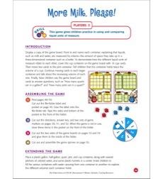 File Folder Game Measurement More Milk Please Using And