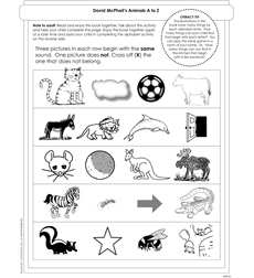 David McPhail's Animals A to Z - Activity Sheet