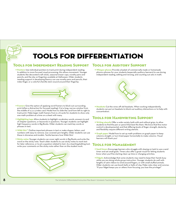 The Scholastic Differentiated Instruction Plan Book By Cindy Middendorf