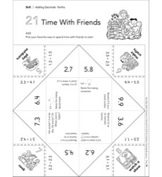 Time With Friends (Adding Decimals: Tenths): Fun-Flap Hands-On Math