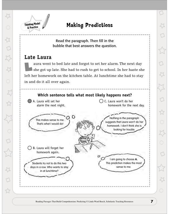Reading Passages That Build Comprehension: Predicting by Linda Ward