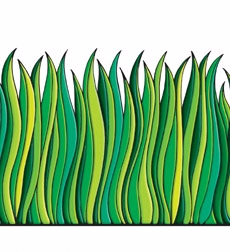 Tall Green Grass Jumbo Borders