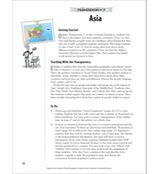 Asia (Reading a Political Map): Map Skills - Grades 4-8
