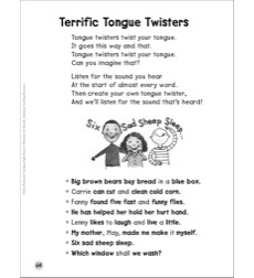 Terrific Tongue Twisters (Same Beginning Sound Words): Sight Words Poem