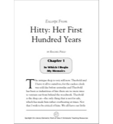 Excerpt from Hitty: Her First Hundred Years, by Rachel Field (Point of View): Spotlight On Literary Elements