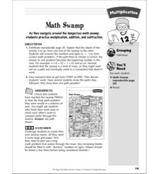 Math Swamp (multiplication maze): Multiplication Activity