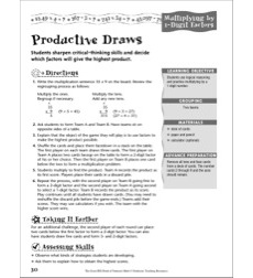 Multiplication: Multiplying by 1-Digit Factors (Productive Draws)