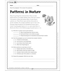 Patterns in Nature: Grade 6 Close Reading Passage