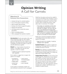 A Call for Carrots (Opinion): Grade 5 Common Core Writing Lesson