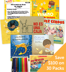 My Books Summer Spanish PreK Fiction - Classroom Set