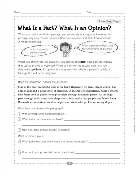and Opinion Passages, Sorts, & Graphic Organizers for Facts & Opinions