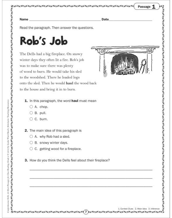 Printables Comprehension Grade 2 comprehension skills 40 short passages for close reading grade 2 see inside image