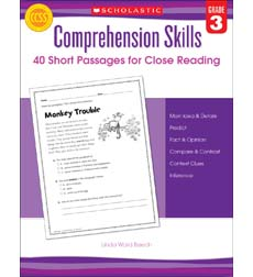 Comprehension Skills: 40 Short Passages for Close Reading: Grade 3