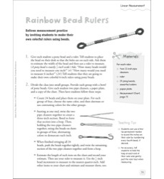 Rainbow Bead Rulers (Linear Measurement): Quick & Easy Math Art